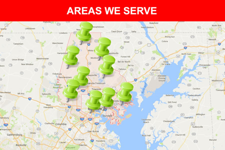 Baltimore service map